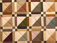 Country Colors Homespun Squares Quilt