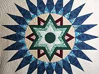 Blue and Multi Indiana Star Quilt