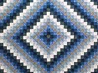 Blue Navy and Cream Trip Around the World Quilt
