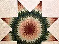Red and Green Plaid Star of Bethlehem Quilt