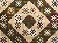 Earthtones Ohio Star Log Cabin Quilt