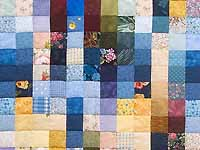 Multicolor Hit or Miss Quilt