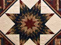 Navy and Multicolor Lone Star Log Cabin Quilt