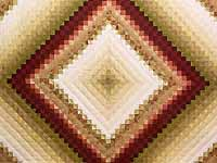 Paprika and Golden Wheat Color Splash Quilt