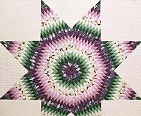 Lavender and Green Lone Star Country Bride Quilt