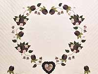 Plum Mauve and Green Heart of Roses 