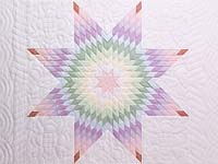 Full Size Pastel Lone Star Quilt