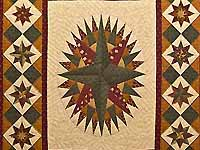 King Mariner's Compass Sampler Quilt