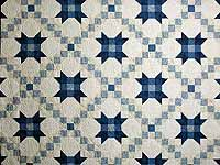 Blue and Cream Snowball Quilt