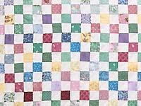 Bright Multicolor Postage Stamp Hit or Miss Quilt