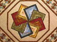 Hand Painted Star Spin Quilt