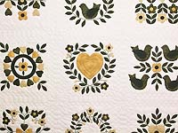Black and Gold Applique Album Sampler Quilt