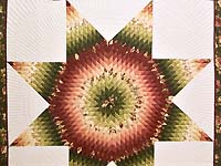 Rose and Green Lone Star Country Bride Quilt