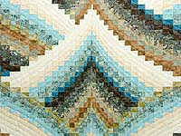 Teal Tan and Brown Lightning Strikes Bargello Quilt
