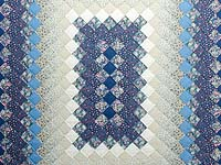 Blue Rose and Cream Boston Commons Quilt