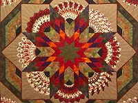 King Tan Purple and Multicolor Bertha Quilt