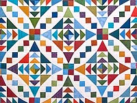 Colorful Faceted Jewels Quilt
