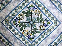 Blue Spring Flowers in Commons Quilt