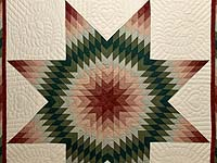 Burgundy and Green Plaid Lone Star Quilt