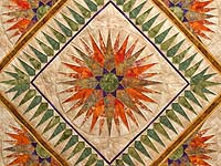 King Gold Moss and Persimmon Compass Reflections Quilt