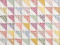 Pastel Diagonal Triangles Quilt