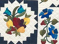 King Navy and Multicolor New Wine Quilt