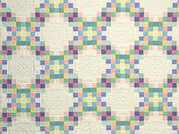 Pastel Triple Irish Chain Quilt