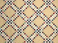 Scrappy Triple Irish Chain Quilt