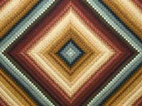 King Gold Burgundy and Teal Postage Stamp Color Splash Quilt