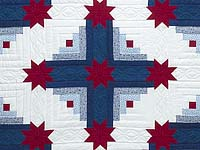Red White and Blue Colorado Log Cabin Quilt