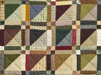 Plaid Earthtones Homespun Squares Quilt