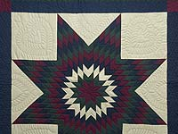 Amish Paper Bag Lone Star Quilt