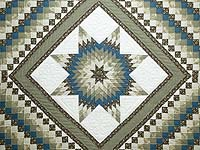 Blue Brown and Gray Lone Star Trip Quilt