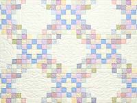 King Pastel Irish Chain Quilt