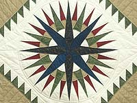 King Country Colors Mariner's Compass Quilt