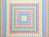 Pastel Multicolor Trip Around the World Quilt
