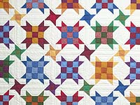 King Colorful Improved Nine Patch Quilt