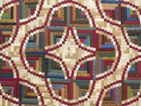 Country Colors Snake River Log Cabin Quilt