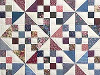 Country Colors Pinwheel Chain Quilt