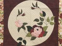 Burgundy Golden Tan and Multicolor I Promised You a Rose Garden Quilt