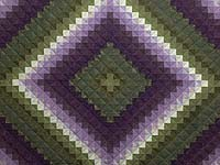 Purple and Green Trip Around the World Quilt