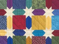 Bright Multicolor Starry Sky Quilt