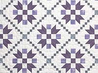 Lavender and Sage Green Folk Art Village Quilt