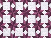 Twin Rose and Cream Little Stars Quilt
