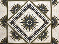 Navy Moss and Gold Compass Reflections Quilt