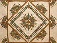 King Moss and Gold Compass Reflections Quilt