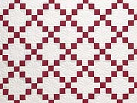 Red and White Nine Patch Quilt