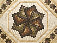 King Hand Painted Star Spin Quilt