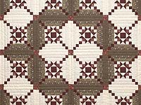 Browns Burgundy and Cream Stars in the Cabin Quilt