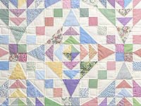Pastel Faceted Jewel Quilt